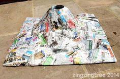 35 Ideas Diy Paper Mache Volcano For Kids Volcano For Kids, Making A Volcano, Science For Kids, Life Science, Stem Projects, Projects For Kids, Crafts For Kids, School Projects, Art Projects