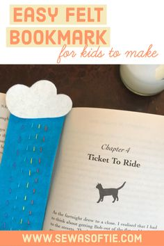 Sew your own easy handmade felt bookmark.