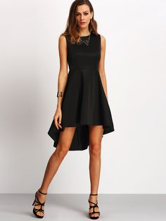 Belt :NO Fabric :Fabric has some stretch Season :Summer Pattern Type :Plain Sleeve Length :Sleeveless Color :Black Dresses Length :Short Style :Party Material :Cotton Neckline :Spaghetti Strap Silhoue