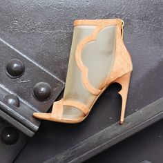 Chic nude bootie heel for every day elegant wear. www.nourjensen.com
