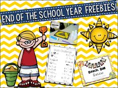 Primary Junction: End of the School Year Freebies!