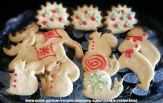 Sugar Cookies ... EASY! Perfect to make with your kids ... so delicious! http://www.quick-german-recipes.com/easy-sugar-cookie-recipe.html