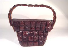 in perfect condition 1940's bakelite and alligator purse
