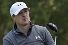 Jordan Spieth watches his drive on the fourth hole of the World Golf Championship Cadillac Match Play at Harding Park in San Francisco on April 29, 2015. Photo by Terry Schmitt/UPI