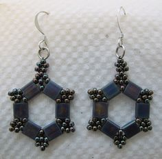 Tila Bead Earrings (try to figure out the pattern)
