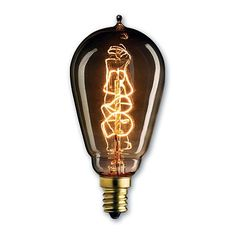 Bulbrite NOS25ST15/E12 25 Watt Nostalgic Incandescent Edison ST15 Vintage Spiral Filament Candelabra Base Antique 10 Bulbs