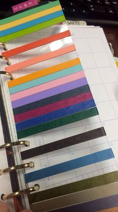 FiloFax a5 Washi Page Marker/Bookmark 20 yards total! (MT Brand 7mm washi tape)