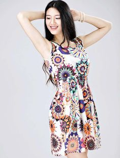 | Details about 1PC Women Summer Sleeveless Sunflower Print Lady Casual ...