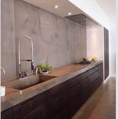 Modern kitchen with simple design