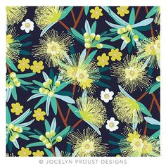 """""""Little Penda"""" is native to North Queensland and is part of my Australian Flora series of designs. Happy floral Friday 💛 #jocelynproustdesigns #australianflora #australiannative #textiledesign #printdesign #printandpattern #botanicals #australiandesign © Jocelyn Proust 2017"""