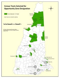 Gov. Sununu Nominates 27 Tracts for Federal Opportunity Zones