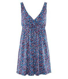 Blue,red and pink floral dress. Comes also in pink, light blue and white floral. ($17.95)