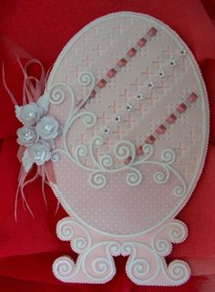 "My own design and creation, a ""Fabergé"" Easter Egg card. From my collection: Dainty Designs No. 2."