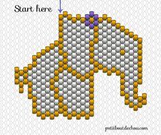 grid beaded elephant miyuki square pic