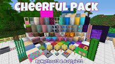 Mythra's Cheerful Resource Pack - minecraft resource packs : This is a 16×16 texture pack that he drew most of the inspiration for this pack  ...  #resource #packs | http://niceminecraft.net/category/minecraft-resource-packs/