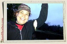 Me fishing at Parker's Dam. These were the only fish I caught… while dad & Kyle reeled in the big ones.  Yes it was very early in the morning!  5/18/13 #AuntHeather