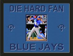 One framed 8 x 10 inch Toronto Blue Jays photo of Adam Lind, double matted in team colors to 24 x 18 inches.  Includes one baseball diamond on each side and the words DIE HARD FAN* and BLUE JAYS**, which are cut into the top mat and show the bottom mat color.  $109.99 @ ArtandMore.com