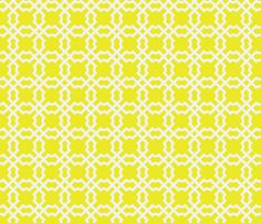 Geo Tile - Sunshine fabric by brownpaperpackages on Spoonflower - custom fabric/wallpaper