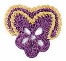 Znalezione obrazy dla zapytania схемы вязания цветов крючком
