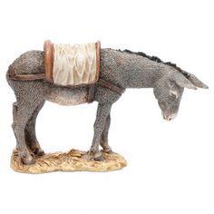 Asno 15 cm resina Moranduzzo | venta online en HOLYART Reggio, Mexican Garden, Homemade Crafts, Christmas Inspiration, Donkey, Wood Carving, Farm Animals, Garden Art, Christmas Time