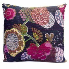 Lali Hand Embroidered Kantha Cushion