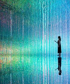 [INS] Worldwide teamlab exhibition./ teamlab stages its largest immersive digital art exhibition in tokyo Led Light Installation, Interactive Installation, Digital Light, Digital Art, Tech Art, New Media Art, Projection Mapping, Light Art, Psychedelic Art