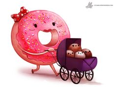 Daily Painting #927. #DoughnutDay by Cryptid-Creations.deviantart.com on @DeviantArt