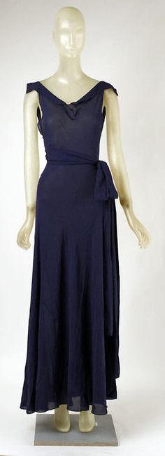 Dress    Madeleine Vionnet, 1937    The Metropolitan Museum of Art
