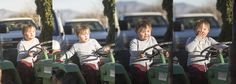 Little Caleb playing 'Young Michael', rockin' the tractor!!!