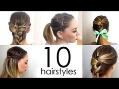 10 Quick & Easy Everyday Hairstyles in 5 minutes