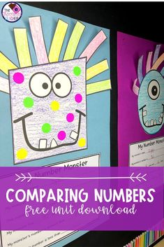 Comparing numbers with first grades can be tricky! This fun unit will have your students First Grade Crafts, First Grade Freebies, First Grade Activities, Math Activities, Math Games, Numbers Kindergarten, Kindergarten Math Worksheets, Kindergarten Rocks, First Grade Classroom