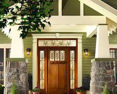Photoshop redo craftsman makeover for a no frills ranch for Fypon porch columns