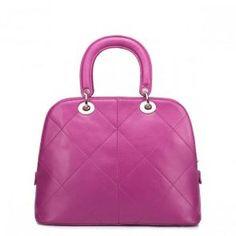 Modna torba skórzana w kolorze różowym