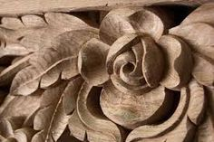 carving wood flowers - Buscar con Google