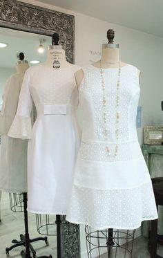 Nuestros vestidos Viena y Olivia para disfrutar de un look #TotalWhite  #GriseldaTovar #Moda #Mujeres #ClothingVintage