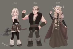 My OCs for my new HTTYD inspired project ♥ They are Idris, her twin brother Imir and the skullqueen Eerika. They baack story is that the siblings are firstborn of the villages chief, but rapunzel style Idris is getting kidnapped by. How To Train Dragon, How To Train Your, Character Inspiration, Character Art, Viking Character, Disney Gender Bender, Httyd Dragons, O Hobbit, Hiccup And Astrid