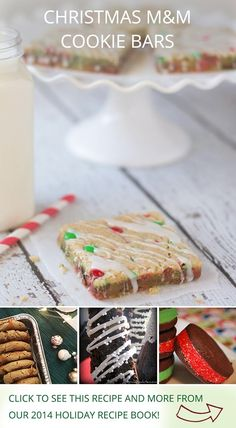 Christmas M&M Cookie Bars by @iheartnaptime, and other holiday recipes from influencers on Pinterest!