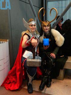 Lady Thor and Loki cosplay