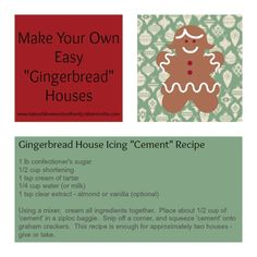 "Easy ""Gingerbread"" Houses 