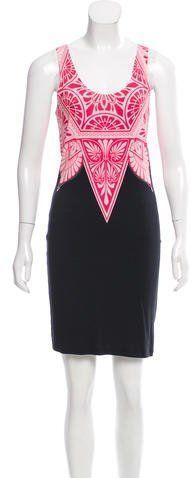 Jonathan Saunders Printed Knit Dress