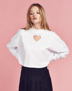 Lazy Oaf Heart Holes Long Sleeve T-shirt - View all - NEW IN - Womens