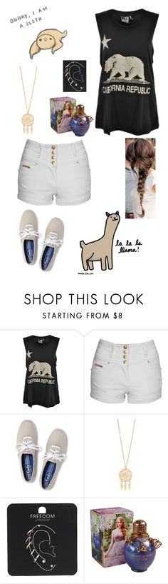 """""""Walking around the neighborhood taking my mind off things"""" by mc2000pl ❤ liked on Polyvore featuring Rebel Yell, Jane Norman, Keds and Topshop"""