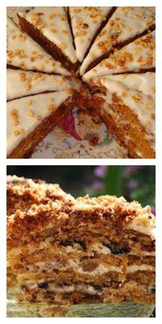 «Медовик» без раскатывания коржей Desert Recipes, Raw Food Recipes, Sweet Recipes, Cooking Recipes, Cake Business, Russian Recipes, Cream Cake, Food Lists, Meal Planning