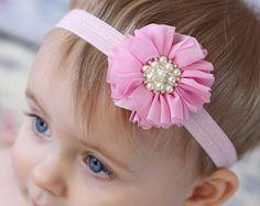 Cabeça-de-rosa gasto Headband Chique Headband do bebê headband, arco de cabelo recém-nascido