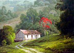 Alexandre Reider Wow Painting, Building Painting, Artist Painting, House Painting, Acrilic Paintings, Seascape Paintings, Nature Paintings, Watercolor Paintings, Landscape Quilts