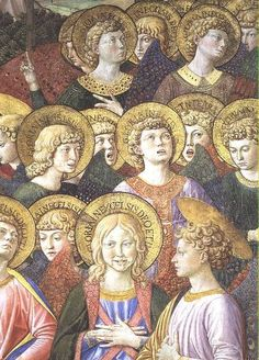 Fresco+Angel+choir   Image: Benozzo Gozzoli - Choir of Angels, detail from the Journey of ...