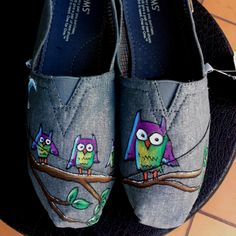Painted TOMS. Found on Etsy.com