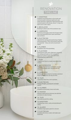 My Bathroom Reno Timeline + Budget — Adore Home Magazine - - Renovating a bathroom is tricky – and with so many different trades involved it can very quickly add up! I explain my renovation timeline and budget. Beach House Bathroom, Bathroom Inspo, Bathroom Inspiration, Bathroom Ideas, Bathroom Goals, Bathroom Layout, Bathroom Renos, Bathroom Interior, Master Bathrooms