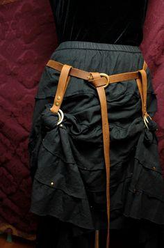 Steampunk jupe randonnées & longue ceinture SET  par MyFunkyCamelot