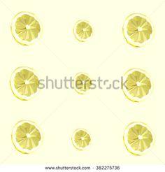 Low Poly Lemon Fruit - stock vector